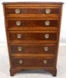 Mahogany Chest of Five Drawers in the Antique Style